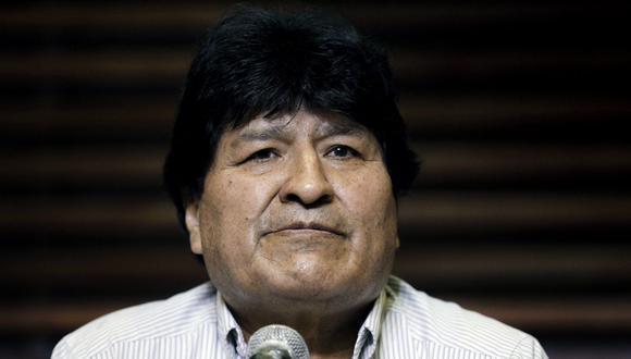 Luis Arce ganó las elecciones, pero Morales ha sido y aún parece ser omnipresente en el MAS. (Foto de Emiliano Lasalvia / AFP).