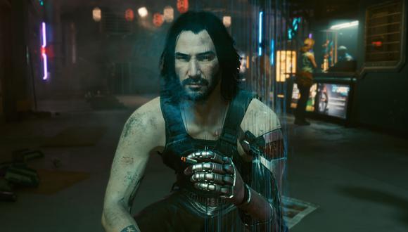 Johnny Silverhand, interpretado por Keanu Reeves, es el protagonista de Cyberpunk 2077. (Captura de pantalla)