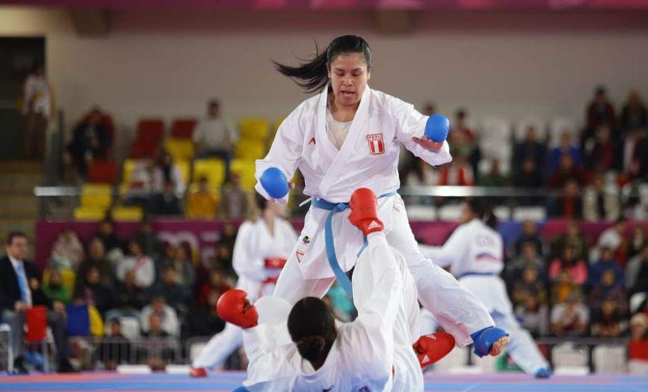 La peruana Isabel Aco aseguró una medalla de bronce en karate. (Foto: Jesús Saucedo - GEC)