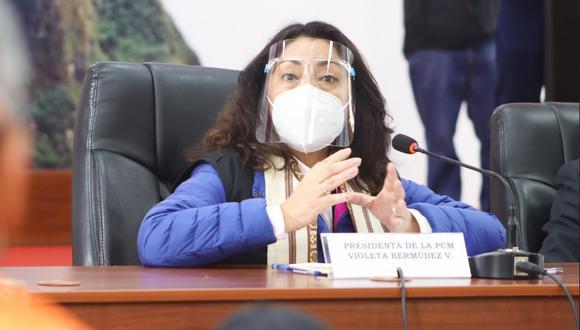 La presidenta del Consejo de Ministros exhortó a la población a vacunarse.