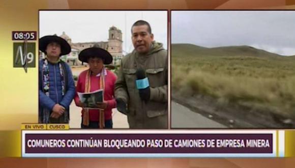Dirigente Carlos Quispe anunció que emprenderán una medida de protesta si la minera Las Bambas no cumple con su responsabilidad. (Captura: Canal N)