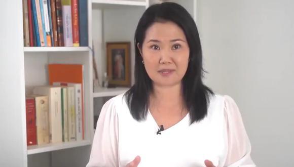 Keiko Fujimori descartó participar en debate presidencial planteado por Julio Guzmán. (Foto: Captura de video )