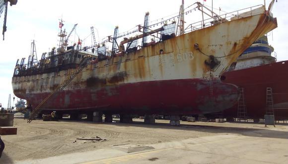 La embarcación china 'Runda 608' fue incautada por la Fiscalía.