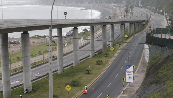 Municipalidad de Lima informó que desde las 8 de la mañana se reabrieron accesos en Costa Verde por tramos tras sismo de magnitud 6 (Foto: Jorge Cerdan /@photo.gec)