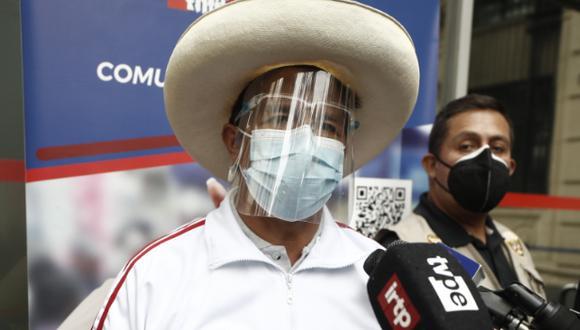 Pedro Castillo también ratificó que él y su equipo técnico asistirán a los debates oficiales organizados por el JNE. (Foto: Archivo de GEC)
