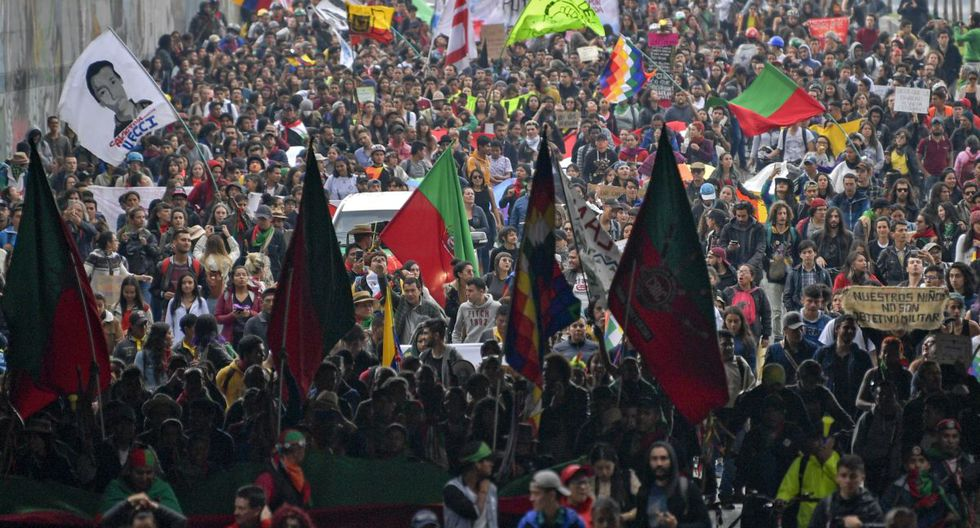Protestas en Colombia (Foto: AFP)
