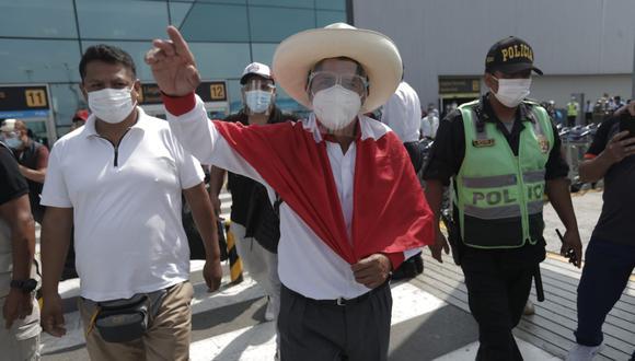 Pedro Castillo se encuentra en Lima para sostener una serie de reuniones con agrupaciones y sindicatos gremiales
