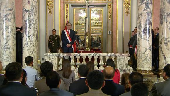 Presidente Martín Vizcarra tomó juramento a cuatro nuevos ministros de Estado. (Foto: Presidencia Perú)
