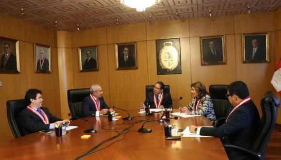 Los magistrados Tomás Gálvez, Pedro Chávarry y Zoraida Ávalos figuran en la lista de fiscales supremos denunciados ante el Congreso. (Foto: Ministerio Público)
