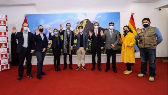 El Gobernador Regional de Cusco, Jean Paul Benavente, y el Embajador de Francia en el Perú, Marc Giacomini, se reunieron , para dialogar en detalle sobre obra. (Foto: : Gobierno Regional de Cusco)