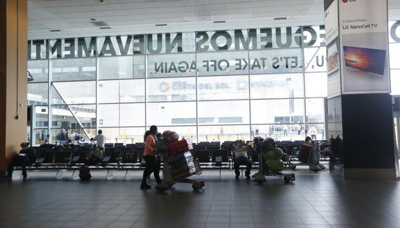 Las personas que tengan que tomar algún vuelo durante el sábado o domingo podrán hacerlo con normalidad. (Foto: Hugo Pérez / GEC)