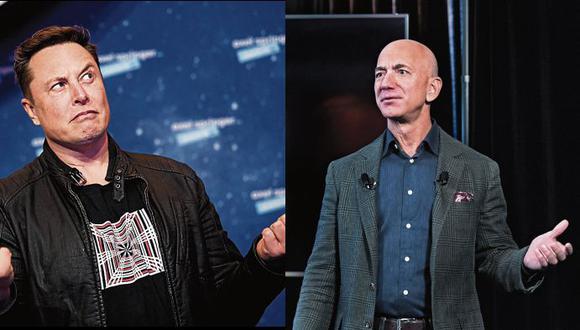 Bezos, obsesionado con el espacio, sigue siendo presidente ejecutivo de Amazon. Musk está tratando de fabricar cohetes y autos Tesla.