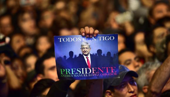 De acuerdo al Instituto Nacional Electoral (INE), AMLO obtuvo entre 53% y 53.8 % de los votos. (Foto: AFP)