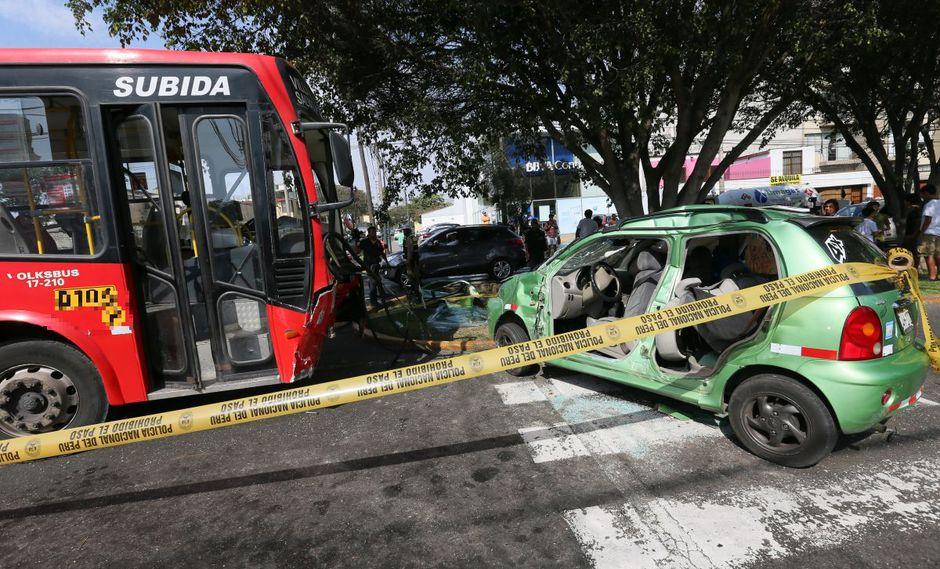 Accidente de tránsito. (Foto: USI)