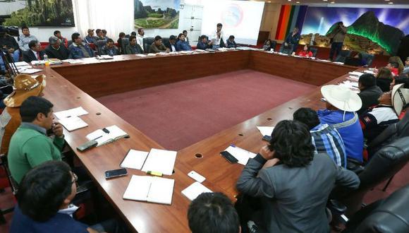 La mesa de diálogo en Cusco con la provincia de Chumbivilcas.