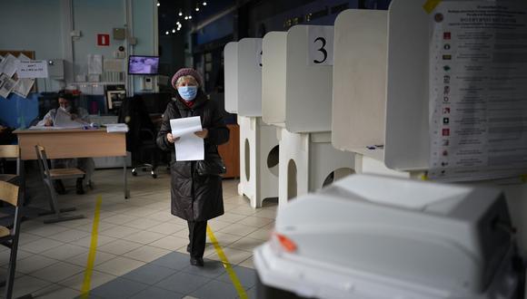 El presidente Putin llamó a que los rusos voten como una demostración de patriotismo. AP