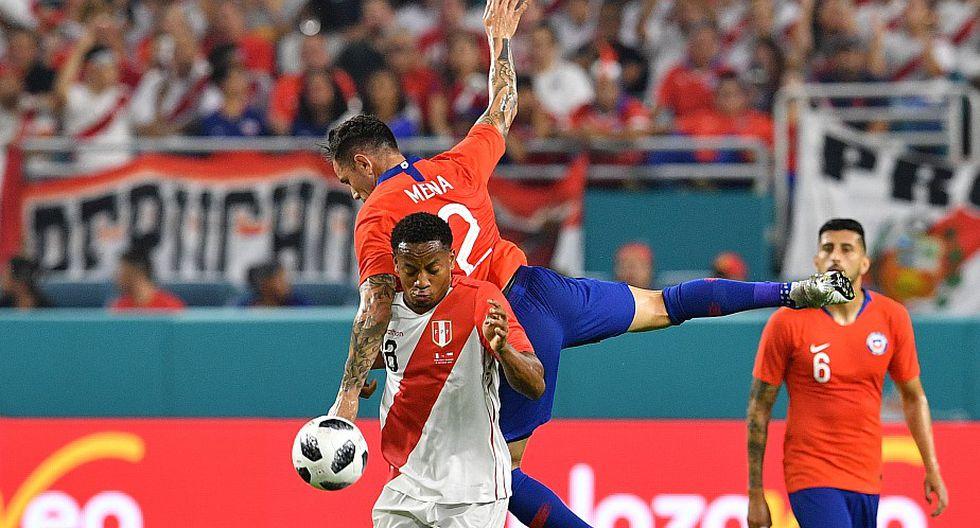 Perú vs Chile. (Foto: AFP)