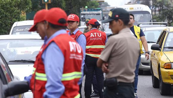 ATU señaló que realiza constantes operativos. (Foto: Alberto Valderrama)