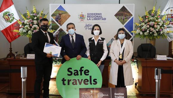"""""""Es una satisfacción saludar la entrega de este importante distintivo a más atractivos turísticos del Destino Trujillo"""", señaló la ministra de turismo,Claudia Cornejo. (Foto: Minetur)"""