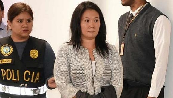 Keiko Fujimori cumple una orden de prisión preventiva desde el 31 de octubre del 2018.
