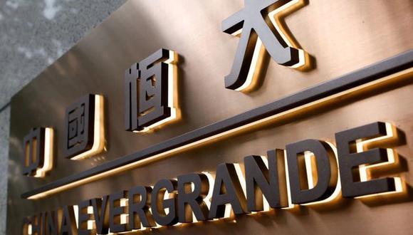 Logo de China Evergrande en el edificio corporativo de la compañía en Hong Kong, China. (Foto: REUTERS/Tyrone Siu)