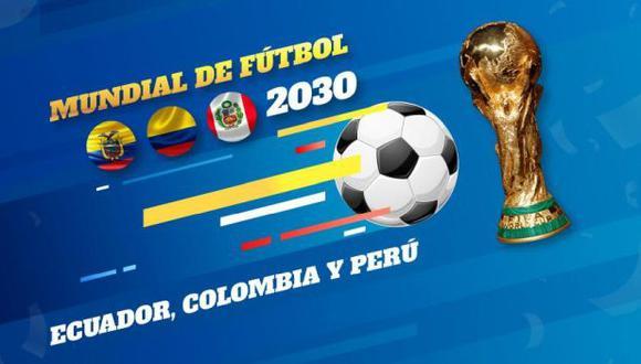 Perú, Ecuador y Colombia podrían organizar el Mundial 2030. (Foto: @Lenin)