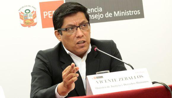 Vicente Zeballos, presidente del Consejo de Ministros. (Foto: Diana Chávez | GEC)