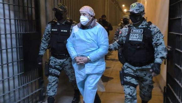 Vladimiro Montesinos fue el trasladado establecimiento temporal del penal de Ancón II el pasado 24 de agosto tras dejar la Base Naval del Callao. (Foto: INPE)