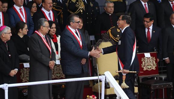 Pedro Olaechea no participó en el evento del lunes en el que Martín Vizcarra dio el discurso que hoy cuestionó. (Foto: Rolly Reyna)