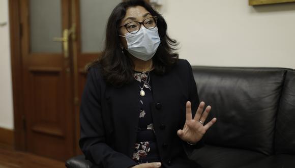 La presidenta de Consejo de Ministros, Violeta Bérmudez comentó que aún se desconoce la fecha de embarque de las dosis de China con dirección a Perú.   Foto: Archivo de GEC