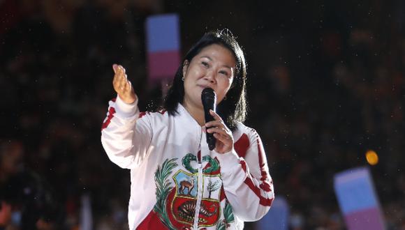 La candidata presidencial de Fuerza Popular, Keiko Fujimori, culminó su campaña electoral con miras a segunda vuelta en el distrito de Villa El Salvador   Foto: Hugo Pérez / @photo.gec