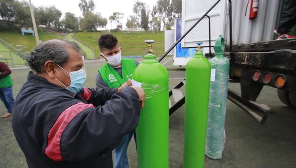 La Libertad: nuevamente se registra largas colas para la recarga de balones de oxígeno en Trujillo (Foto: Referencial/GEC)