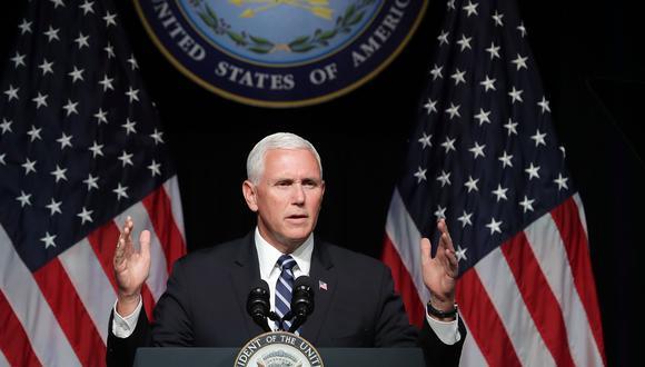 El vicepresidente de Estados Unidos, Mike Pence, oficializó el nuevo Ejército Espacial. (Foto: AFP)