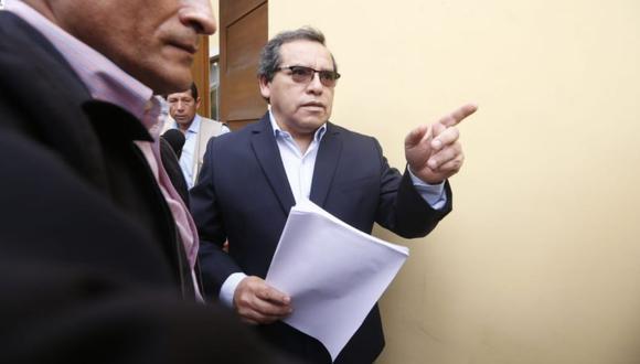 Rciardo Pinedo, secretario de Alan García, aseguró que llamó al ministro del Interior por un pedido suyo. (Foto: Mario Zapata / GE)
