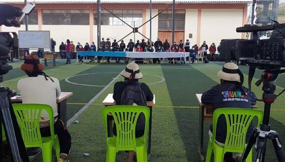 Apurímac: Comuneros de Challhuahuacho firma acuerdo con el Ejecutivo y empresa minera Las Bambas. (Foto: Juan Sequeiros)