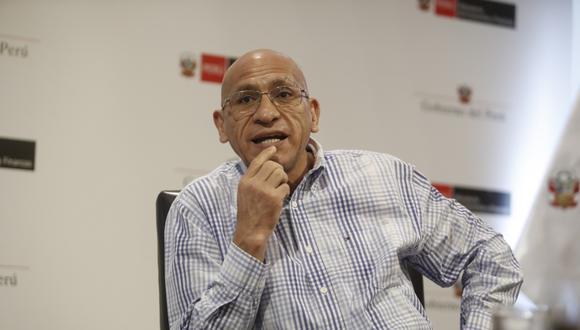Waldo Mendoza, titular del Ministerio de Economía y Finanzas (MEF). (Foto: César Campos | GEC)