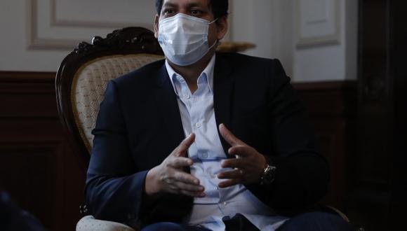 """""""Ya el presidente del partido [César Acuña] nos ha llamado la atención públicamente y APP no votará a favor de la vacancia el día viernes"""", señaló Luis Valdez. (Foto: GEC)"""