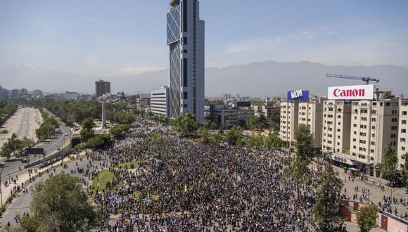 La Plaza Italia es un foco de concentración para feroces manifestaciones callejeras, tras las cuales Chile ha pasado de ser el país más rico y estable de América Latina a un caso de prueba de profundo malestar social.