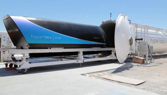 El Hyperloop One superaría los 1,000 km/h en velocidad.
