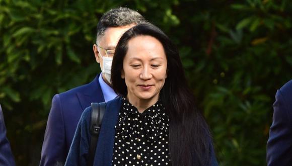 """Huawei seguirá defendiéndose de las acusaciones de los tribunales estadounidenses"""", señaló la compañía en un comunicado mientras Meng volaba de regreso a China. (Photo by Don MacKinnon / AFP)."""