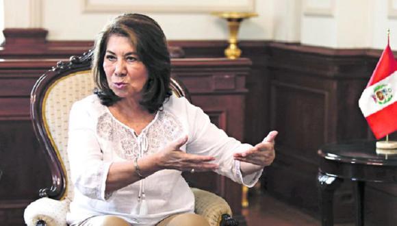 Martha Chávez le respondió a Fuerza Popular, luego que el partido rechazara sus expresiones contra Vicente Zeballos. (Foto: GEC)