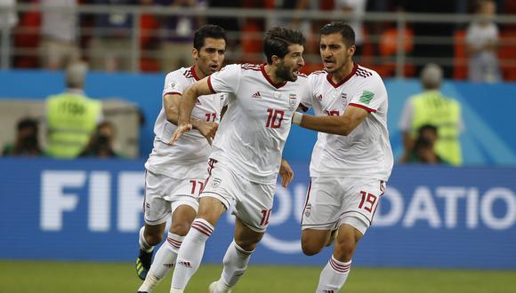 El iraní Karim Ansarifard celebra su gol frente a Portugal, el mismo que batió el récord de penales en Mundiales. (Foto: AP)