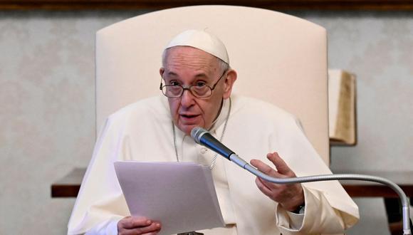 """El papa Francisco denuncia la """"especulación financiera"""" y pide que sea """"estrictamente regulada"""". (Foto: AFP)."""