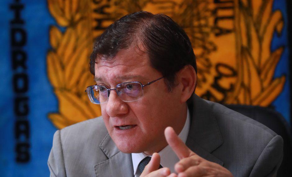 Posición. Jorge Chávez Cotrina consideró que es legítimo que un fiscal supremo discrepe con la posición de un fiscal provincial.  (Foto: Lino Chipana)