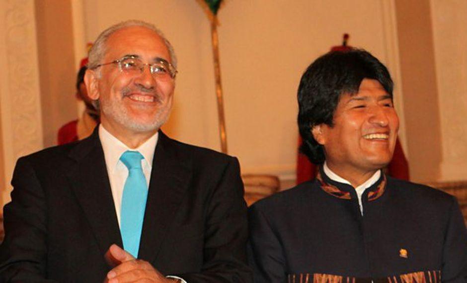 Evo Morales y Carlos Mesa. (Foto: EFE)