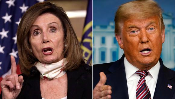 Nancy Pelosi está tomando varias medidas preventivas en caso que Donald Trump se resista a abandonar el cargo. (Foto: AFP/AP)