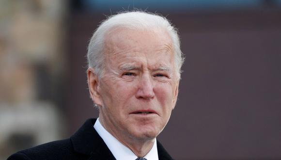 Imagen del presidente de los Estados Unidos, Joe Biden, durante un evento en el Centro de Reserva de la Guardia Nacional en el aeropuerto del condado de New Castle, Delaware, el 19 de enero de 2021. (REUTERS / Tom Brenner).