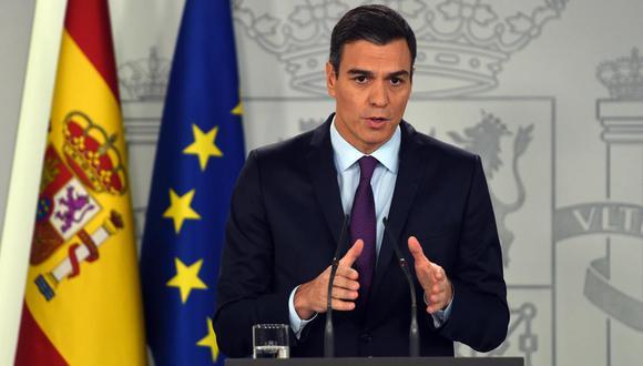 Pedro Sánchez, presidente de España. (Foto: AFP)