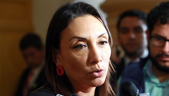 """""""Creo que [con la bancada liberal] nos unen muchos lazos de afinidad"""", señaló Patricia Donayre. (Foto: Agencia Andina)"""