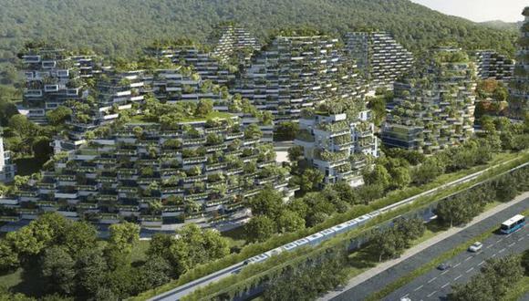 """La ciudad forestal de Liuzhou,en China, será la primera """"ciudad verde"""" del mundo. (Foto referencial: Difusión)"""